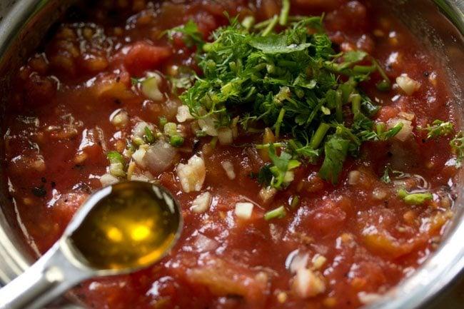 mustard oil to make tomato chokha recipe