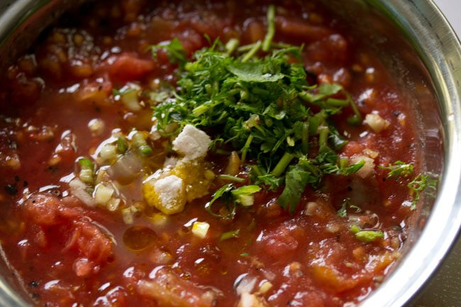 salt to make tomato chokha recipe