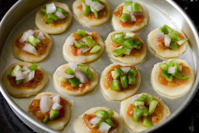 veggies for pizza puffs recipe