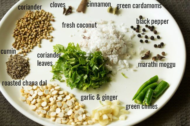 ingredients for making veg saagu recipe