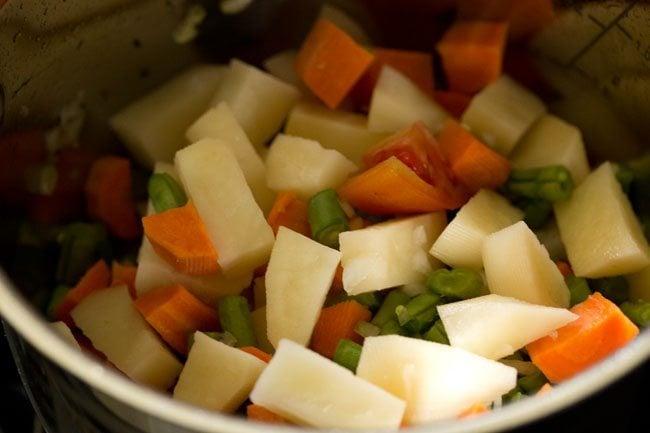 veggies for making veg sagu recipe
