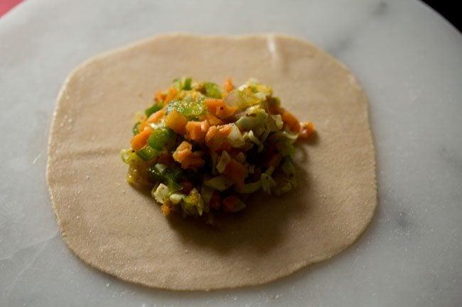 veggie stuffing for veg momos recipe