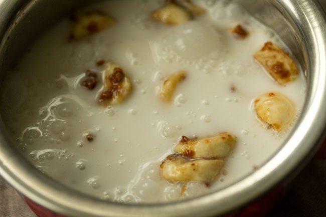 preparing banana rasayana recipe