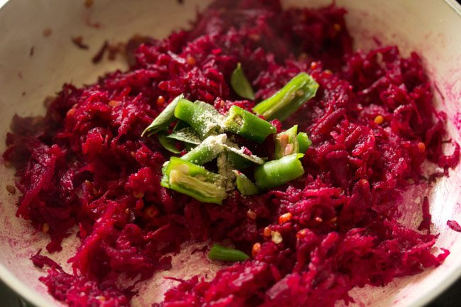 green chilli for making beetroot chutney recipe