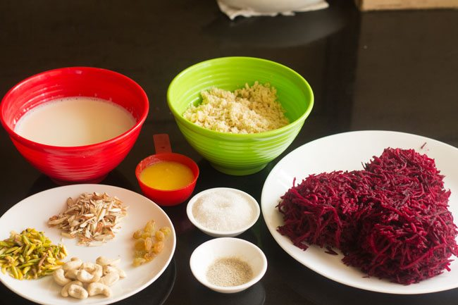 dry fruits for beetroot halwa recipe