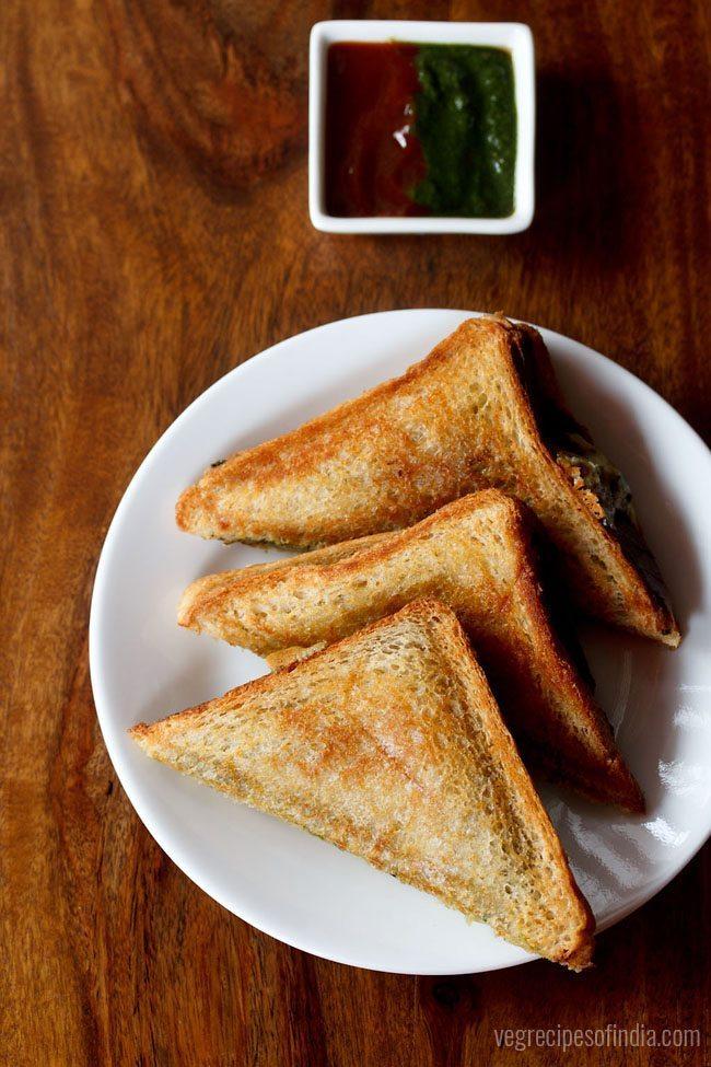cheese chilli toast sandwich recipe