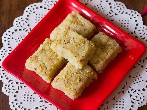 coconut barfi recipe with khoya