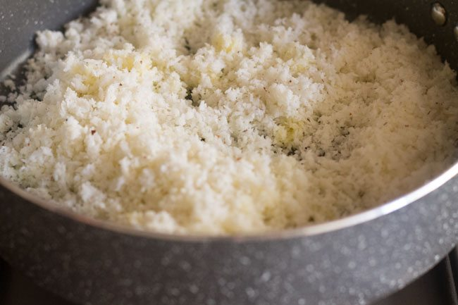 making nariyal barfi recipe