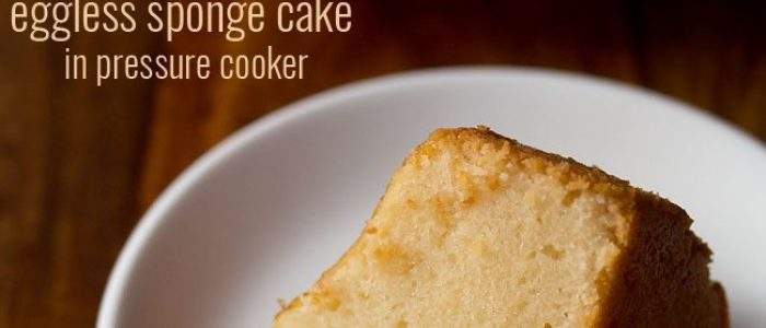 cooker cake recipe, how to make cake in cooker | eggless sponge cake