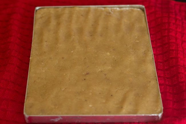 preparing kaju barfi recipe