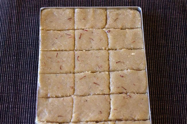 kaju barfi recipe, kaju burfi recipe