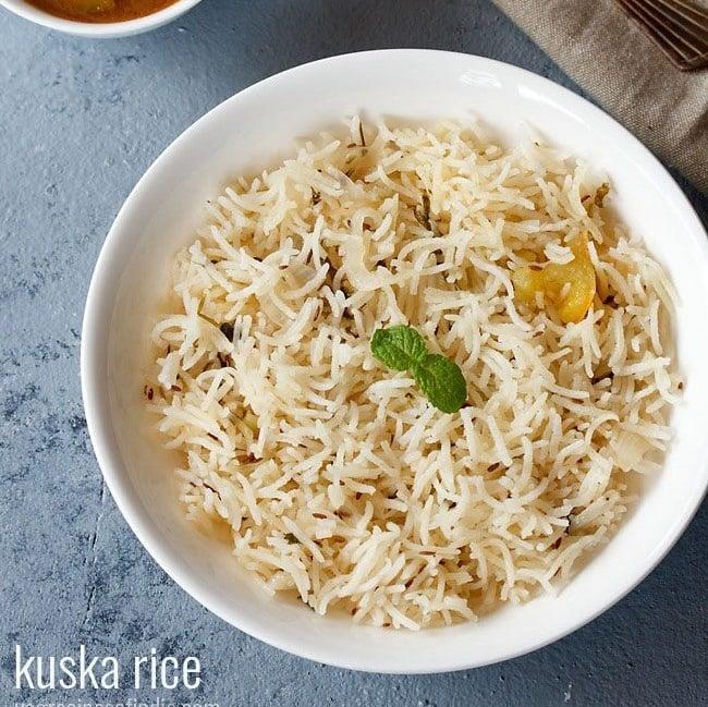 kuska biryani recipe, kuska rice recipe