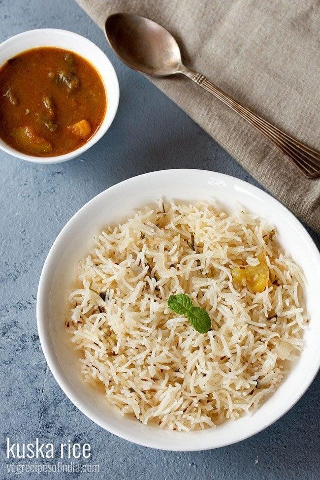 kuska biryani recipe or plain biryani recipe | how to make kuska rice recipe