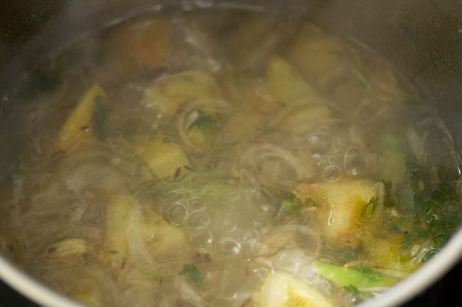 preparing kuska biryani recipe
