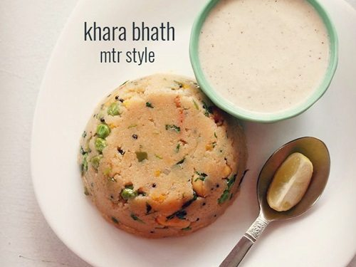 mtr style khara bhath recipe