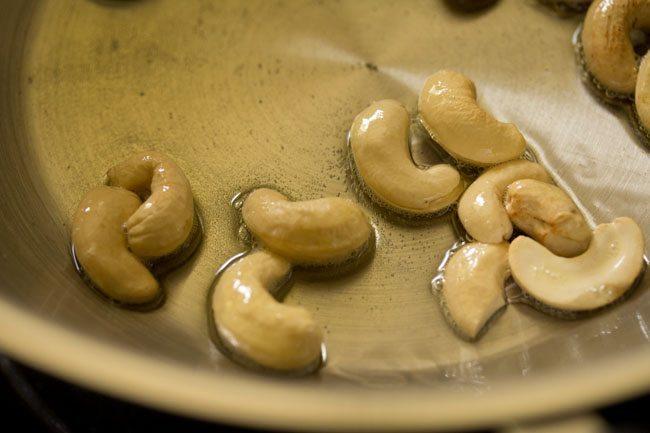 kaju for mtr style rava bhath recipe