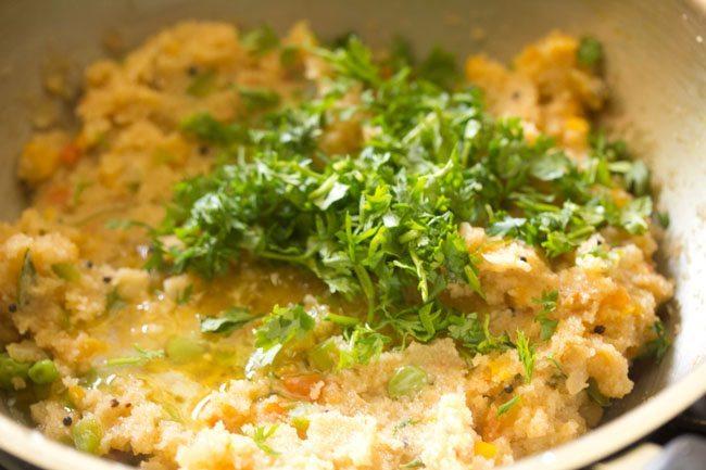 preparing rava bhath recipe