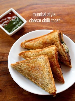 mumbai style cheese chilli toast sandwich recipe