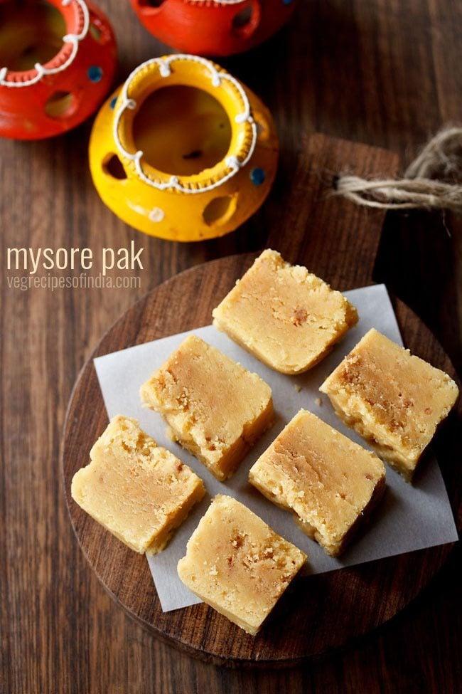 mysore pak recipe, how to make mysore pak recipe | diwali sweets recipes