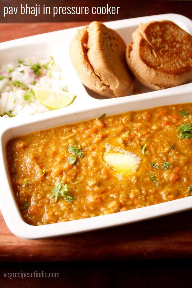 pav bhaji recipe in pressure cooker