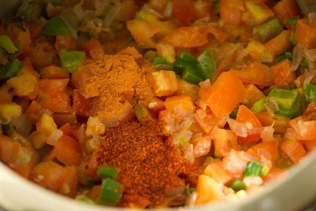 spices for making pav bhaji recipe in pressure cooker