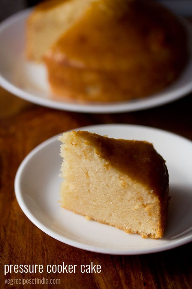 pressure cooker cake recipe, how to make sponge cake in pressure ...