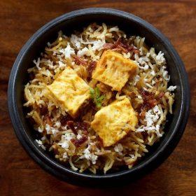 paneer biryani in pressure cooker recipe