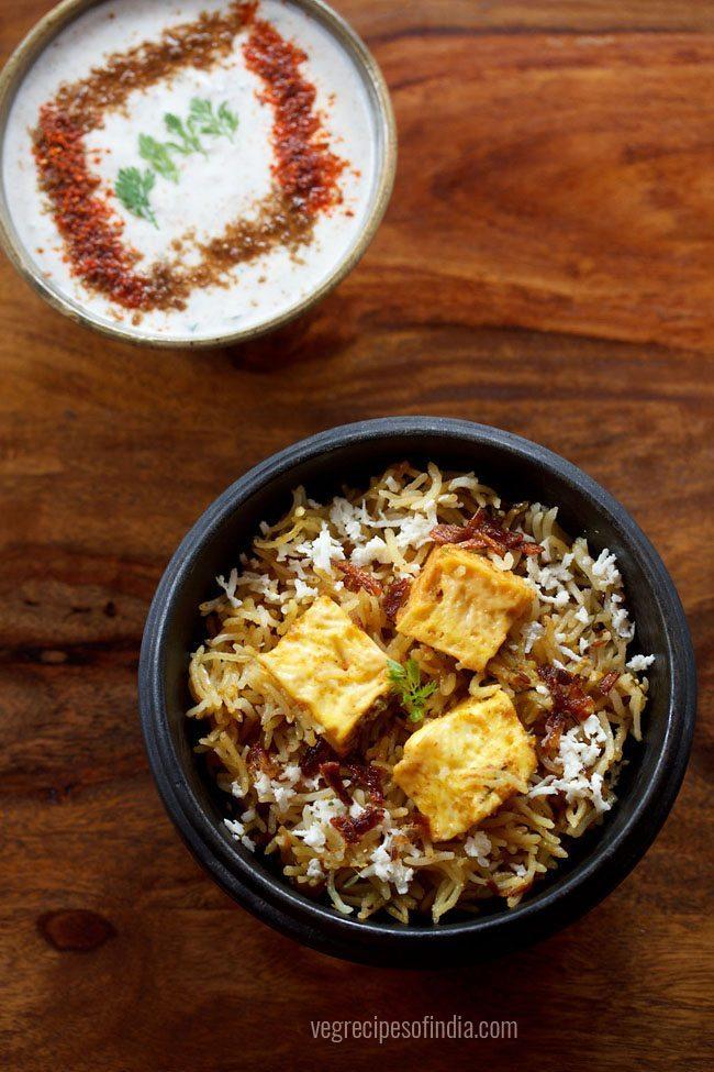 pressure cooker paneer biryani recipe