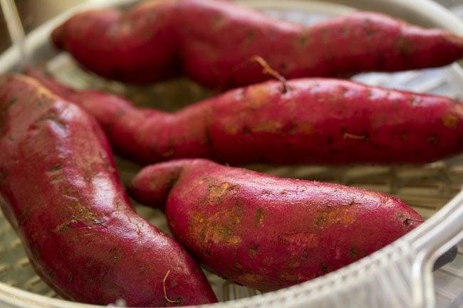 sweet potatoes for sweet potato gulab jamun recipe