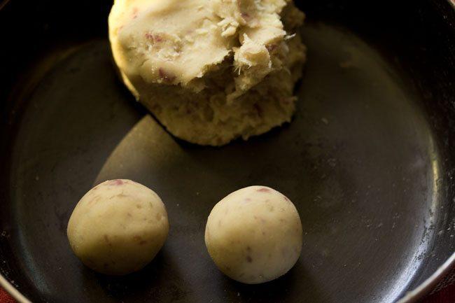 dough to make sweet potato gulab jamun recipe