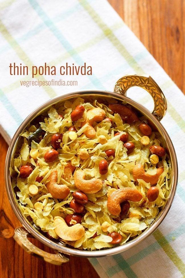 thin poha chivda recipe