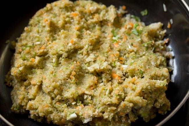 minced veggies to make veg kabab recipe