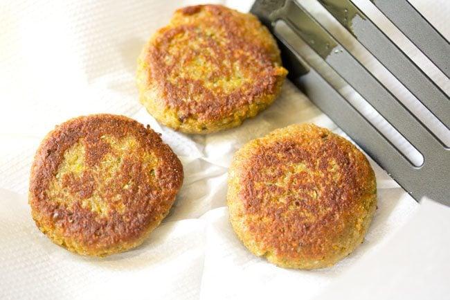 frying kabab - making vegetable kabab recipe