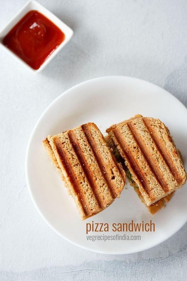 veg pizza sandwich recipe
