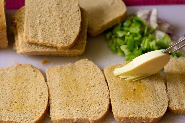 bread for veg pizza sandwich recipe