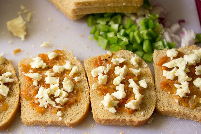 cheese for veg pizza sandwich recipe