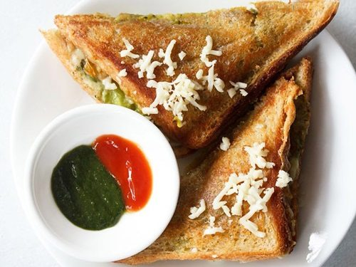 cheese masala toast sandwich recipe