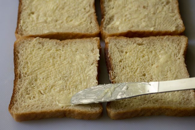 butter for cheese toast sandwich recipe