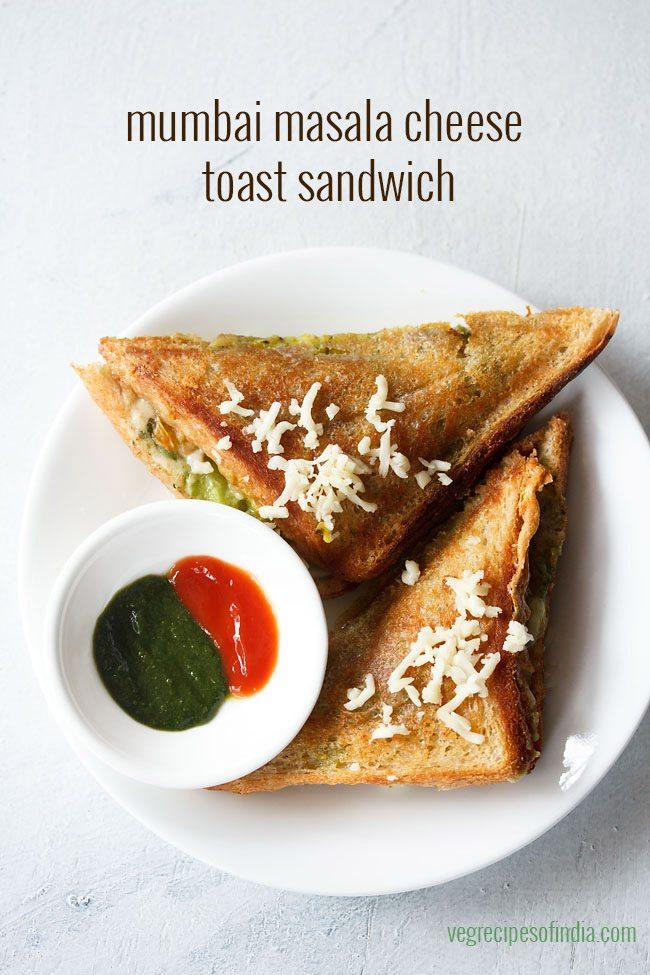 bombay cheese masala toast sandwich recipe