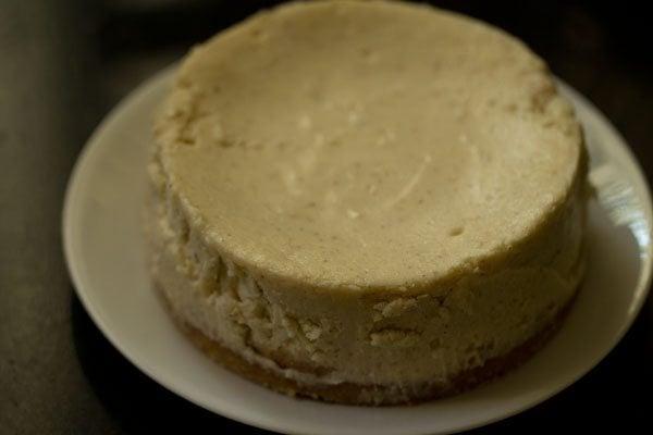 eggless baked cheesecake recipe