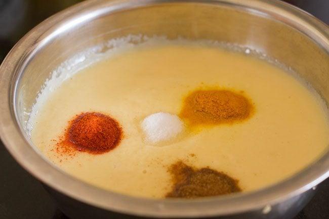 salt for moong dal cheela recipe