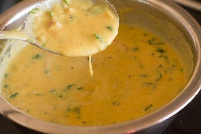 batter to make moong dal chilla recipe