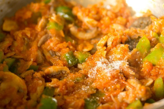 sugar to make pasta in red sauce recipe
