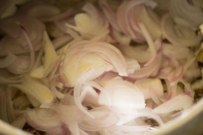 onions to make mushroom biryani recipe