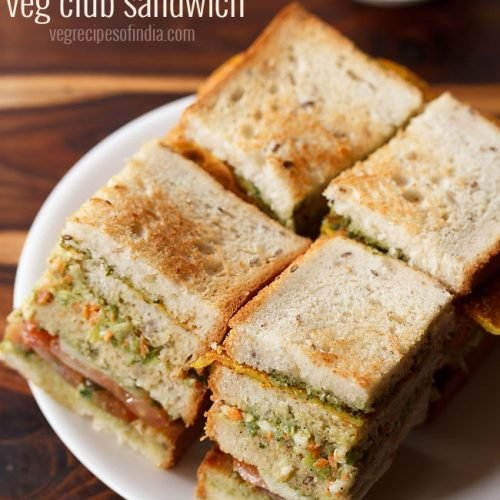 veg club sandwich recipe, club sandwich