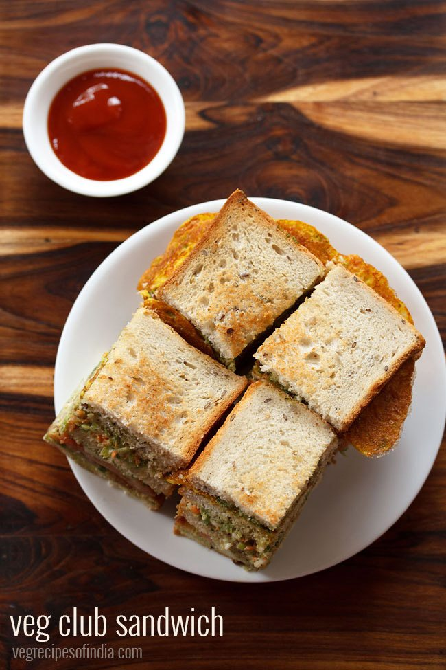 veg club sandwich recipe