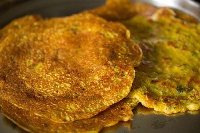 making cheela for veg club sandwich recipe