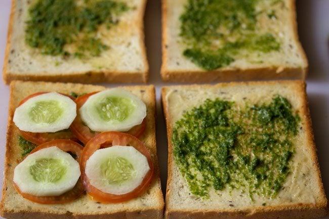 add veggies to make club sandwich recipe