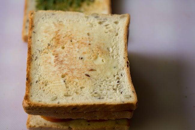 making veg club sandwich recipe