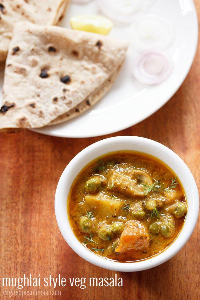 veg masala recipe mughlai style | how to make mughlai veg masala recipe